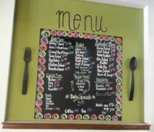Greens menu