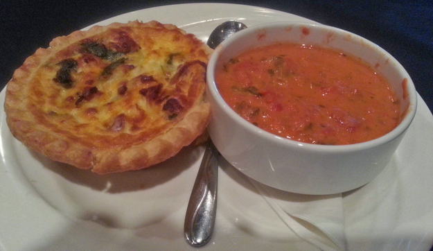 quiche and soup