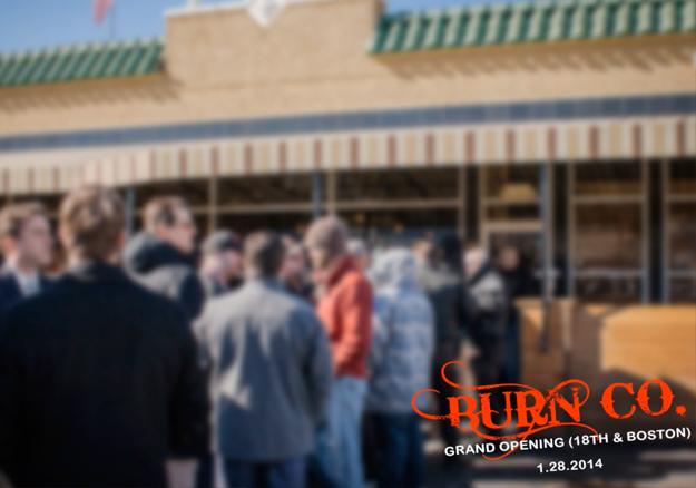 BurnCo Line Out The Door in Tulsa