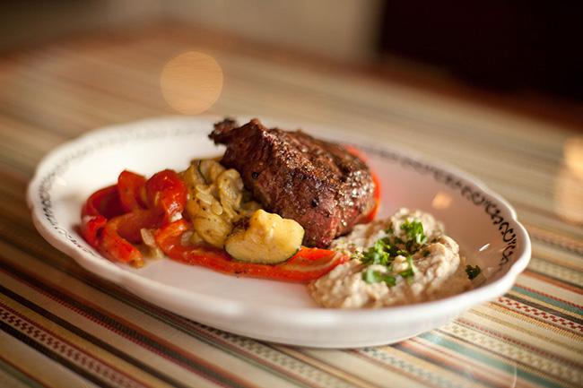 Zatar Filet served with hericot vert